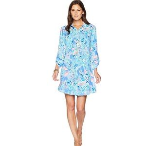 LILLY PULITZER Natalie Shirtdress Coverup